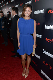 Vanessa Lachey looked lovely in a Grecian-style cocktail dress during the Entertainment Weekly SAG nominees celebration.