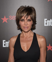 Lisa Rinna's layered razor cut has become as much her trademark as her full lips.