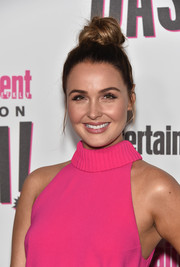 Camilla Luddington pulled her hair up into a top knot for the Entertainment Weekly Comic-Con party.