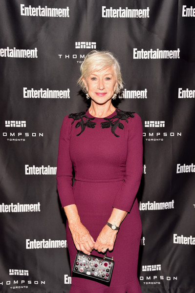 More Pics of Helen Mirren Beaded Purse (1 of 8) - Evening Bags Lookbook - StyleBistro [pink,fashion,premiere,dress,magenta,neck,helen mirren,must list party,thompson hotel,toronto,canada,entertainment weekly,entertainment weeklys must list party,toronto international film festival]
