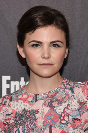 Ginnifer Goodwin wore her short hair with a side part and a teased crown at the Entertainment Weekly and People New York Upfronts.