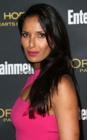 Padma Lakshmi swiped on some magenta lipstick to match her dress at the Entertainment Weekly pre-Emmy party.