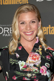 Katee Sackhoff styled her hair with retro-glam waves for the Entertainment Weekly pre-Emmy party.