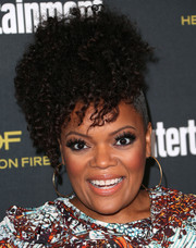 Yvette Nicole Brown looked funky with her afro puff at the Entertainment Weekly pre-Emmy party.