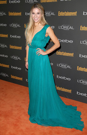 Allison Holker looked like a goddess in her flowing blue evening dress during the Entertainment Weekly pre-Emmy party.