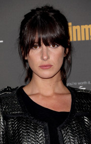 Shenae Grimes rocked a messy ponytail with eye-grazing bangs at the Entertainment Weekly pre-Emmy party.
