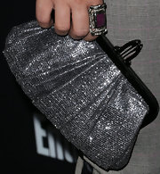 Tiffani Thiessen spruced up her ensemble with a red carpet-worthy metallic silver frame clutch at the Screen Actors Guild Awards pre-party.