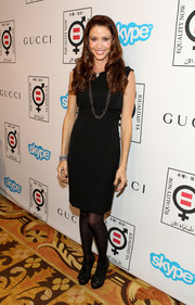 Shannon Elizabeth went the classic route with this simple LBD at the Make Equality Reality event.
