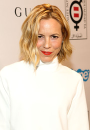 Maria Bello sported edgy waves at the Make Equality Reality event.
