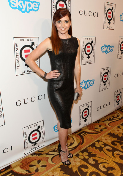 More Pics of Alyson Hannigan Long Straight Cut (1 of 9) - Long Straight Cut Lookbook - StyleBistro