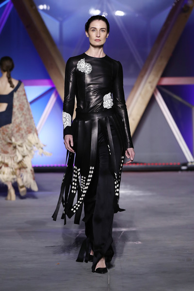 Erin O'Connor Fitted Blouse [fashion,fashion model,fashion show,runway,clothing,haute couture,fashion design,event,public event,latex clothing,erin oconnor,runway,cannes,france,aeroport cannes mandelieu,runway - fashion for relief cannes,fashion for relief cannes,cannes film festival]