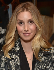 Whitney Port wore her hair with a center part and gentle waves during the launch of Erin Wasson's PacSun collection.