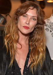 Erin Wasson rocked mussed-up waves with center-parted bangs during the launch of her PacSun collection.
