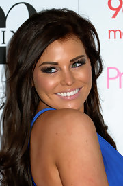 Jessica Wright attended Essex Fashion Week wearing lots of smoky shadows and long feathery lashes.