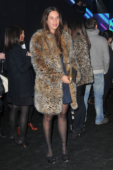 Tatiana Santo Domingo's fur coat was an on trend choice of outerwear.