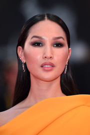 Nicole Warne went for a sleek straight 'do when she attended the Venice Film Festival screening of 'At Eternity's Gate.'