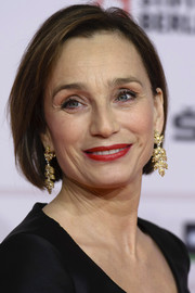 Kristin Scott Thomas looked lovely with her bob at the 2013 European Film Awards.