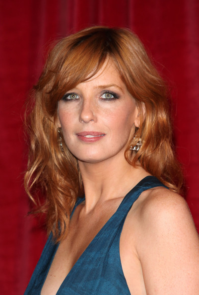 More Pics of Kelly Reilly Long Wavy Cut with Bangs (1 of 4) - Kelly Reilly Lookbook - StyleBistro