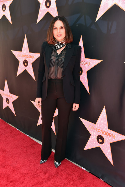 More Pics of Lana Parrilla Mid-Length Bob (1 of 3) - Shoulder Length Hairstyles Lookbook - StyleBistro [carpet,fashion,flooring,outerwear,red carpet,formal wear,star,suit,hollywood star ceremony post-luncheon,beverly hills,california,eva longoria,lana parrilla]