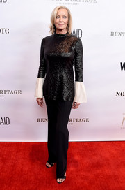 Bo Derek shimmered in a black sequined top at the Evening in China with WildAid event.