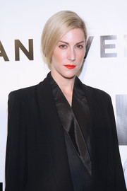 Joanna Hillman sported a sleek graduated bob at the Evening Honoring Karl Lagerfeld event.
