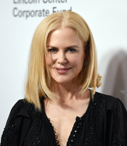 Nicole Kidman attended the Evening Honoring Louis Vuitton event wearing her hair in an asymmetrical lob.