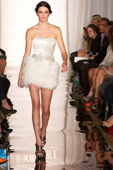 Kendall+Jenner in Evening Sherri Hill - Runway - Spring 2012 Mercedes-Benz Fashion Week