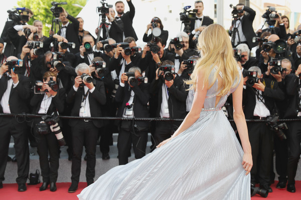 More Pics of Romee Strijd Long Wavy Cut (1 of 17) - Romee Strijd Lookbook - StyleBistro [red carpet,carpet,premiere,event,flooring,dress,gown,fashion,formal wear,ceremony,romee strijd,screening,everybody knows todos lo saben opening gala red carpet arrivals - the 71st annual cannes film festival,everybody knows todos lo saben and the opening gala during the 71st annual cannes film festival at palais des festivals on may 8,france,cannes]