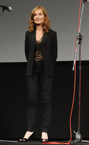 Isabelle Huppert rocked a pair of black skinnies at the Festival del Film di Locarno.
