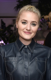 Amanda Michalka styled her hair into a French braid for the By Far party.