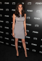 Daniela Ruah paired her platform pumps with a silver cocktail dress.