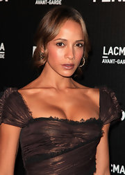 Dania Ramirez showed off an elegant updo while hitting the FENDI boutique opening.