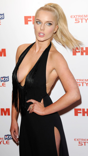 More Pics of Helen Flanagan Halter Dress (1 of 7) - Halter Dress Lookbook - StyleBistro