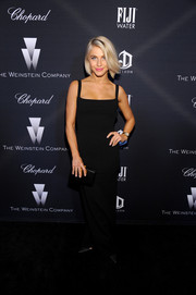 Julianne Hough opted for a simple black evening dress when she attended the Weinstein Company Oscar nominees dinner.