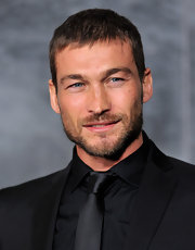 Andy Whitfield wore his hair in a cool Caesar cut at the 'Spartacus' event.