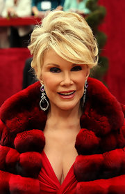 Joan Rivers exuded Old Hollywood glamour in a retro-inspired updo at the Academy Awards.
