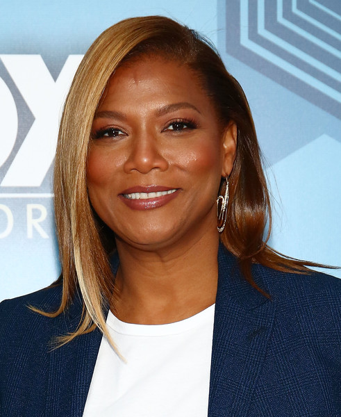 Queen Latifah sported a stylish half-pinned hairstyle at the Fox 2016 Upfront.