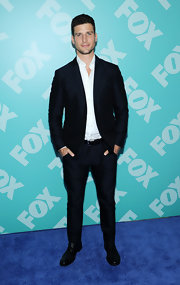 Parker Young rocked a dark classic suit at FOX's programming party.