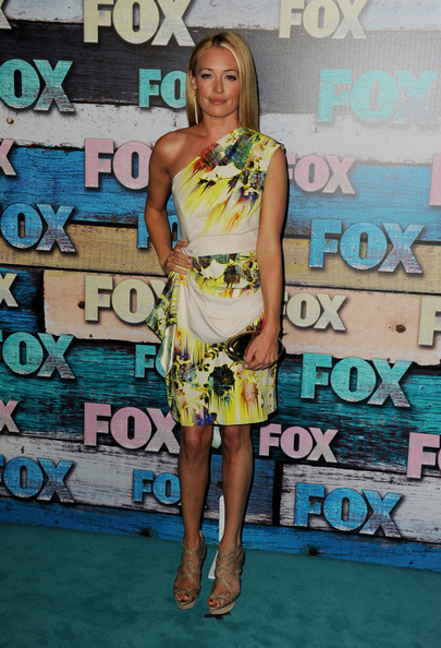 Cat Deeley in a tropical print
