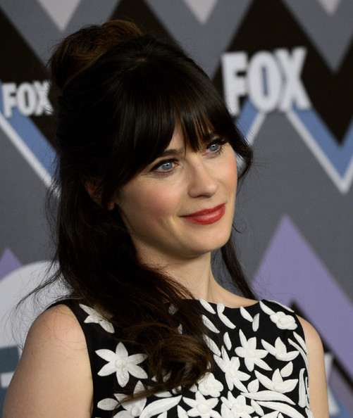 More Pics of Zooey Deschanel Print Dress (3 of 8) - Zooey Deschanel Lookbook - StyleBistro