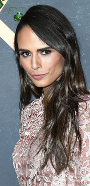 Jordana Brewster wore her hair down in a textured, side-parted style at the Fox Fall party.