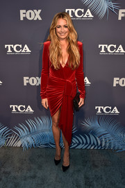 Cat Deeley looked super sultry in a plunging red velvet dress by Alexandre Vauthier at the Fox Summer TCA 2018 All-Star Party.