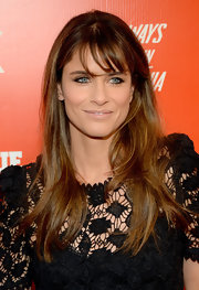 Amanda Peet looked a little pale with her nude lipstick during the FXX Network launch.