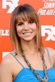 Jill Latiano looked youthful with her shoulder-length straight 'do with bangs during the FXX Network launch.