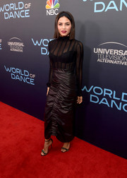 Jenna Dewan-Tatum looked sultry in a sheer, body-con top by Cinq à Sept at the 'World of Dance' FYC event.