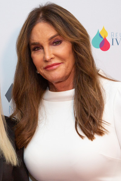 Caitlyn Jenner wore her hair down with a center part at the Highlands to the Hills Gala.