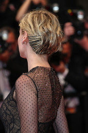 Diane Kruger rocked an edgy bobby-pinned updo at the Cannes Film Festival screening of 'In the Fade.'