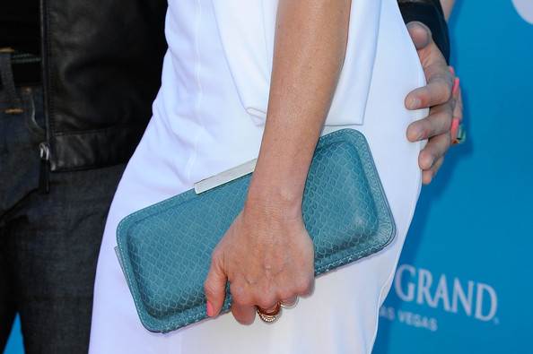 Faith Hill Buckled Clutch