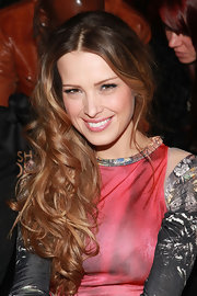 Petra Nemcova wore her lengthy locks in a mass of big tousled curls at the Falguni & Shane Peacock fall 2012 fashion show.