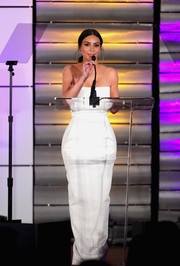 Kim Kardashian looked simply lovely in a strapless white gown by Rick Owens at the Family Equality Council's Impact Awards.